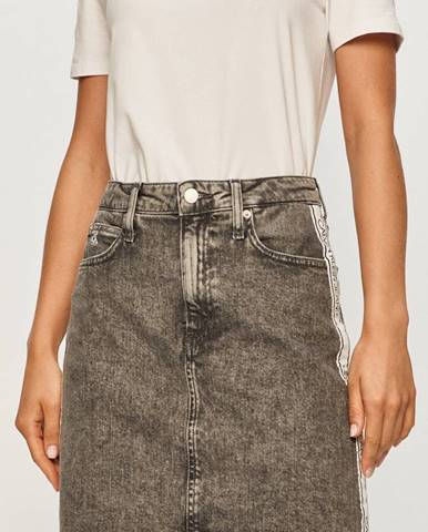 Šedá sukně calvin klein jeans