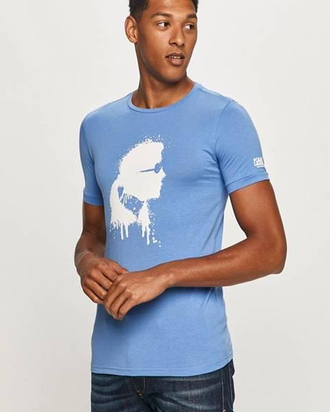 Modré tričko karl lagerfeld