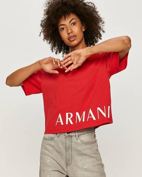 Červený top Armani Exchange