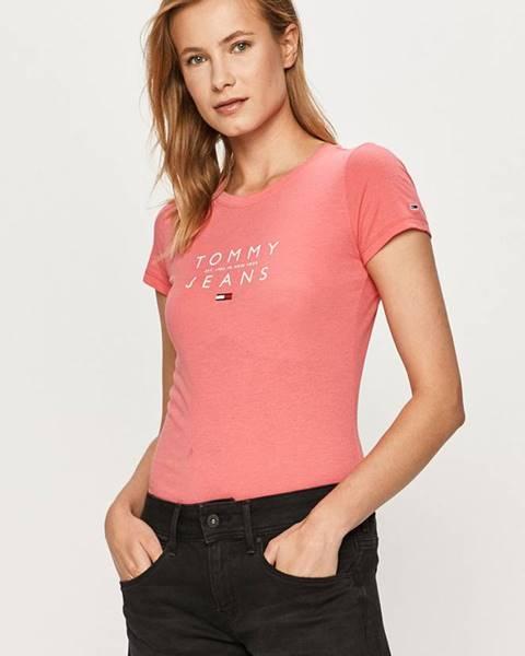 Růžový top Tommy Jeans