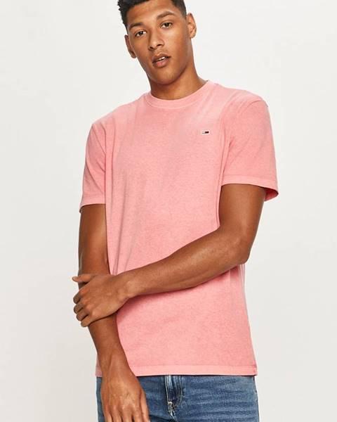Růžové tričko Tommy Jeans