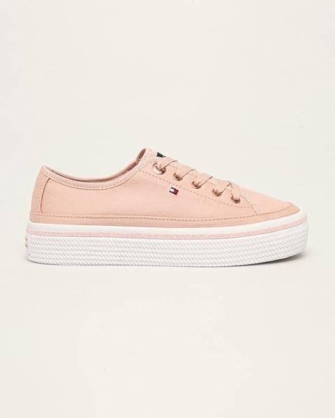 Růžové boty tommy hilfiger