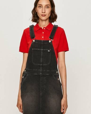 Šedé šaty Tommy Jeans