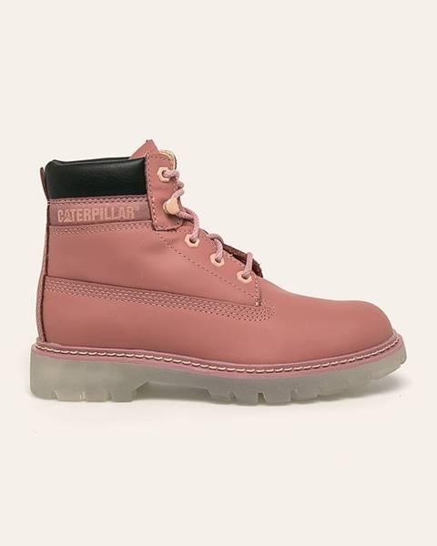 Růžové boty Caterpillar