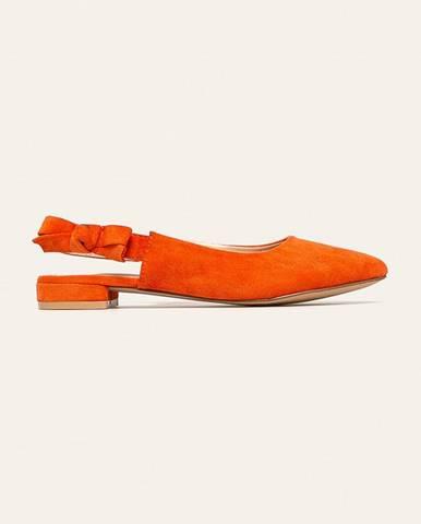 Oranžové baleríny ANSWEAR