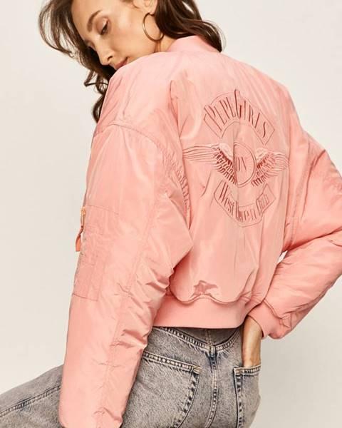 Růžová bunda pepe jeans