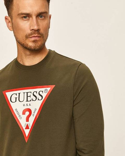 Zelená mikina Guess Jeans