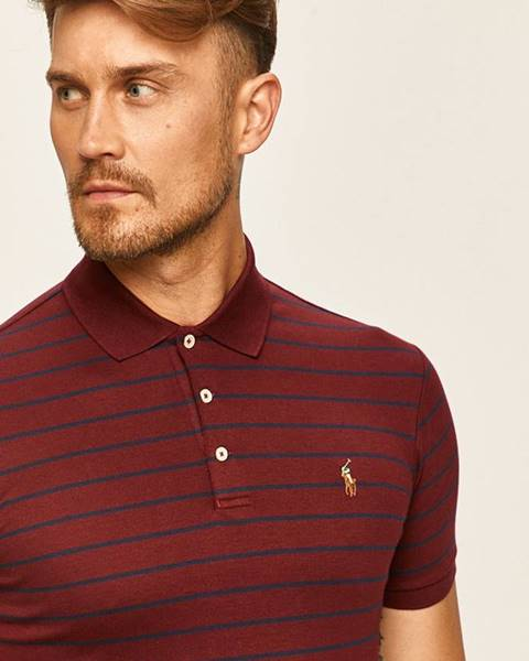 Burgundské tričko Polo Ralph Lauren