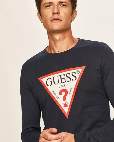 Modré tričko Guess Jeans