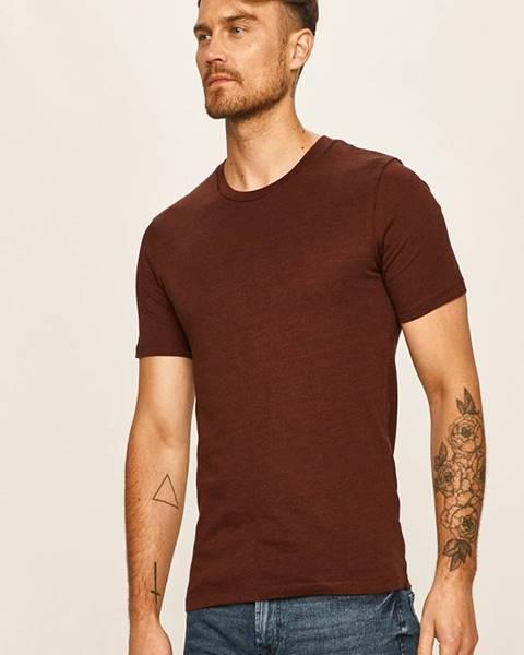 Burgundské tričko SELECTED