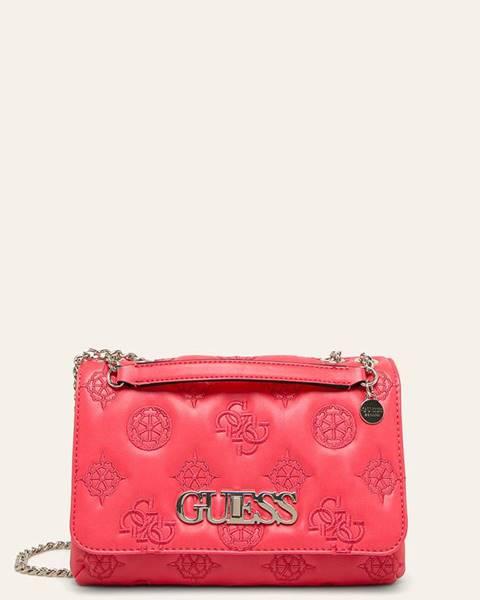 Růžová kabelka Guess Jeans