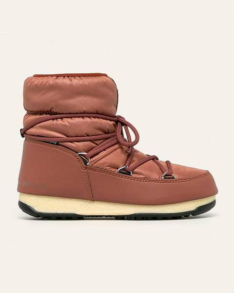 Hnědé boty Moon Boot
