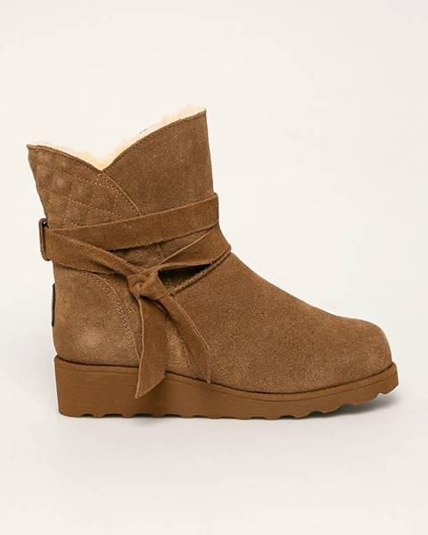 Hnědé boty Bearpaw