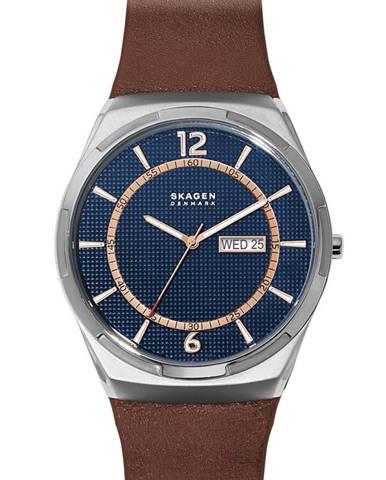 Hnědé hodinky Skagen