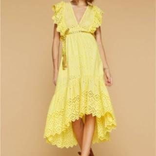 Společenské šaty ABITO LUNGO DOTTY Žlutá