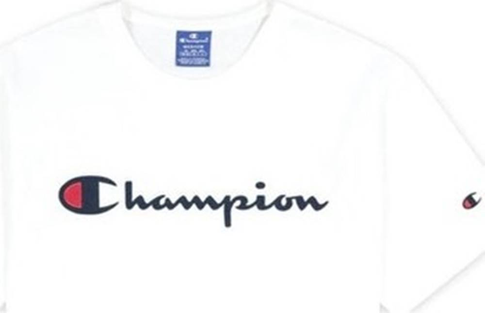 champion Trička s krátkým rukávem Crewneck Tshirt Wht Bílá