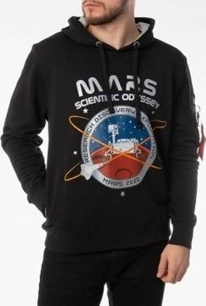 Alpha Mikiny Mission To Mars Hoody Černá