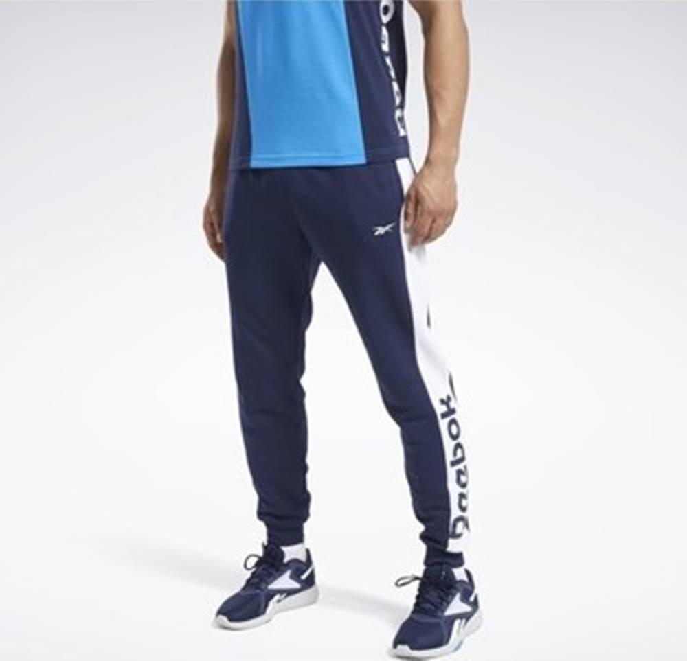 Reebok Sport Ležérní kalhoty Training Essentials Linear Logo Joggers Modrá