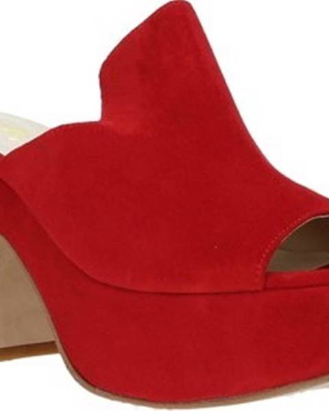 Červené pantofle Grace Shoes
