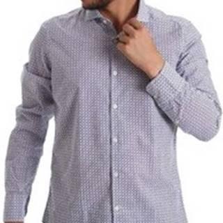 Košile s dlouhymi rukáv 971184/02 Modrá