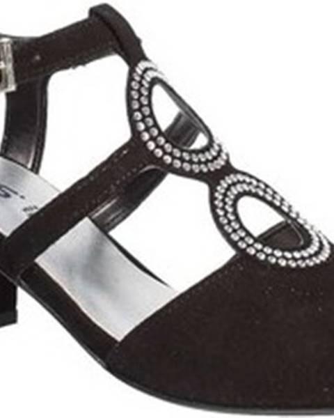 Černé sandály Keys