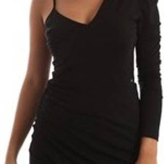 Krátké šaty 2WD0014 TE0015 Černá