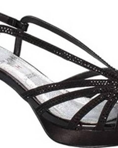 Černé sandály Osey