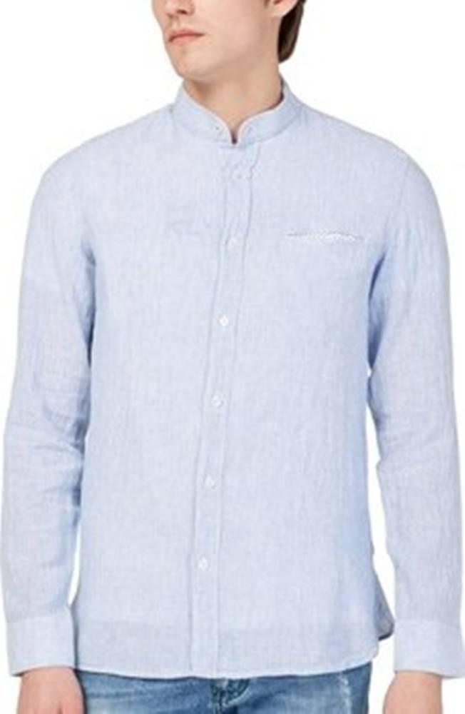 GAS Košile s dlouhymi rukáv 151228 Modrá
