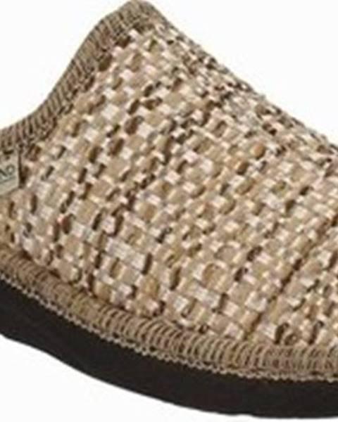 Hnědé domácí boty Grunland