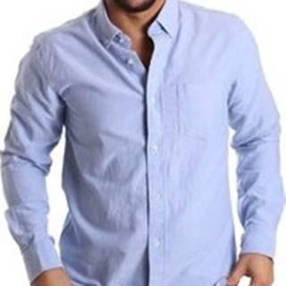 Košile s dlouhymi rukáv JOY-S074 Modrá