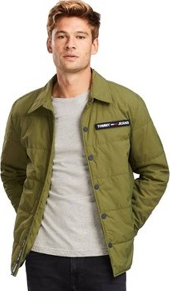 Tommy Jeans Kabáty DM0DM07367 Zelená