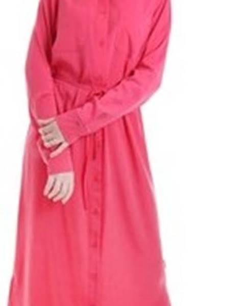 Růžové šaty calvin klein jeans