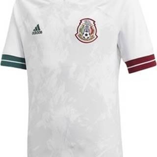 adidas Trička s krátkým rukávem Venkovní dres Mexico Bílá
