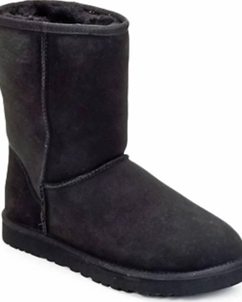 Černé boty ugg