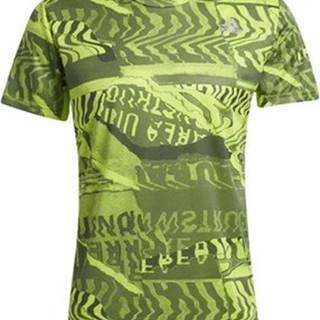 adidas Trička s krátkým rukávem Tričko Own the Run Graphic Zelená