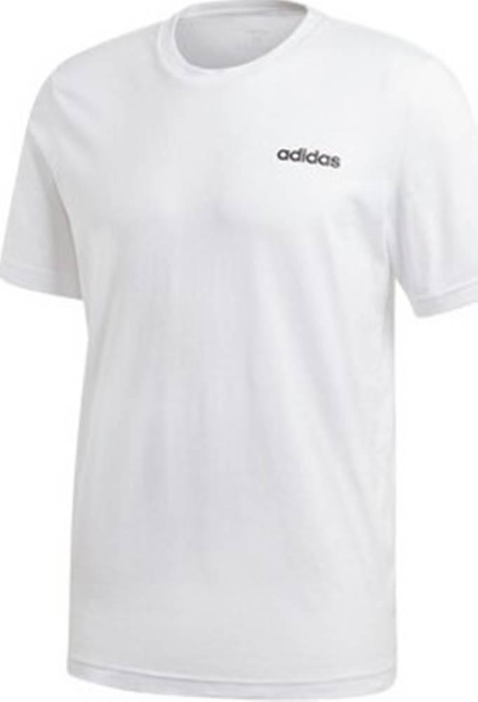 adidas adidas Trička s krátkým rukávem Essentials Plain Bílá