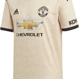 adidas Trička s krátkým rukávem Venkovní dres Manchester United Béžová