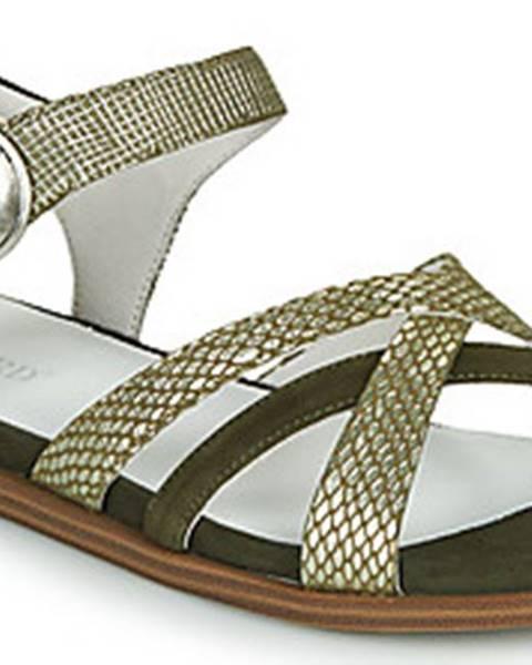 Khaki sandály Regard
