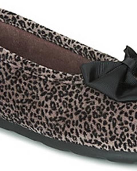 Hnědé domácí boty Isotoner