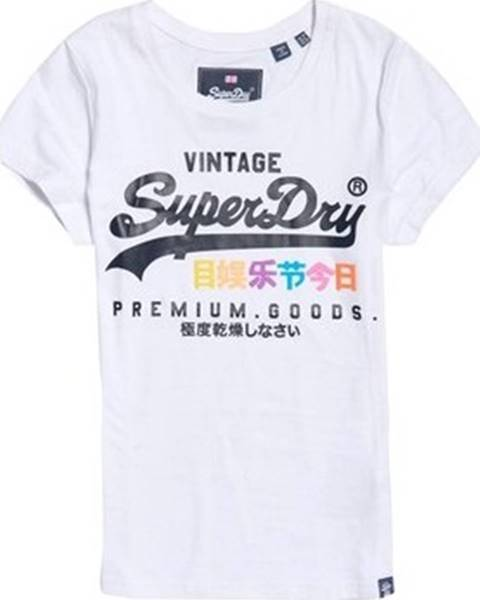 Bílý top superdry