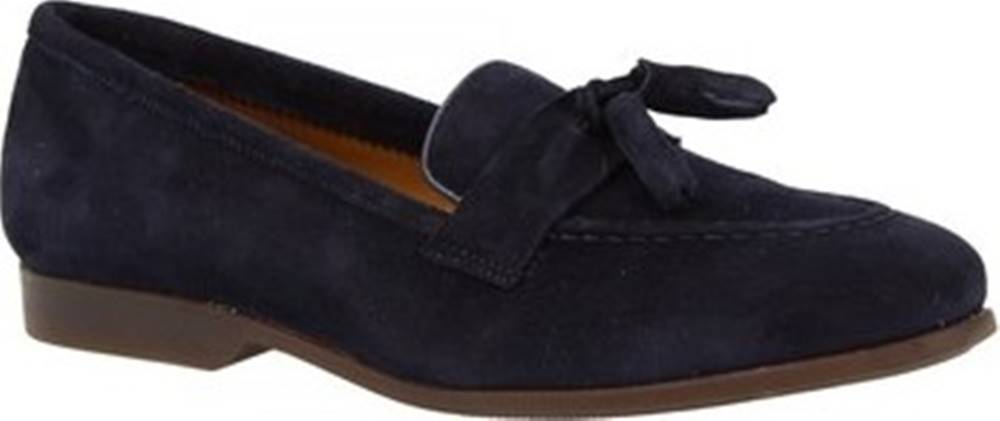 Leonardo Shoes Mokasíny TOR02 VELUR NAVY Modrá