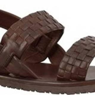 Sandály M6758 MARRONE Hnědá