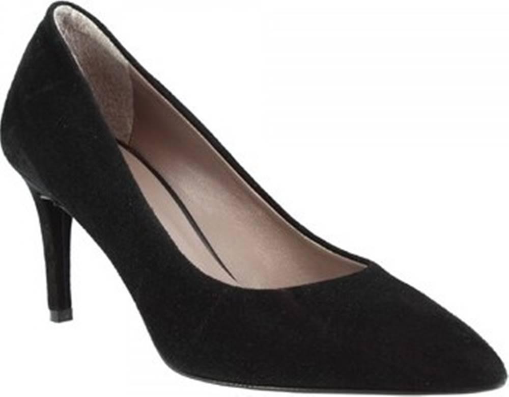 Leonardo Shoes Lodičky 706 CAMOSCIO NERO Černá