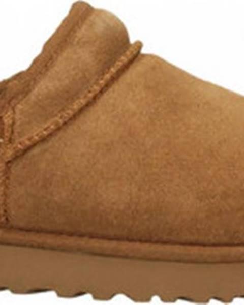 Hnědé domácí boty ugg