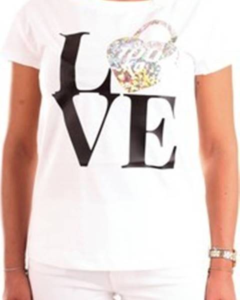 Bílý top Love Moschino
