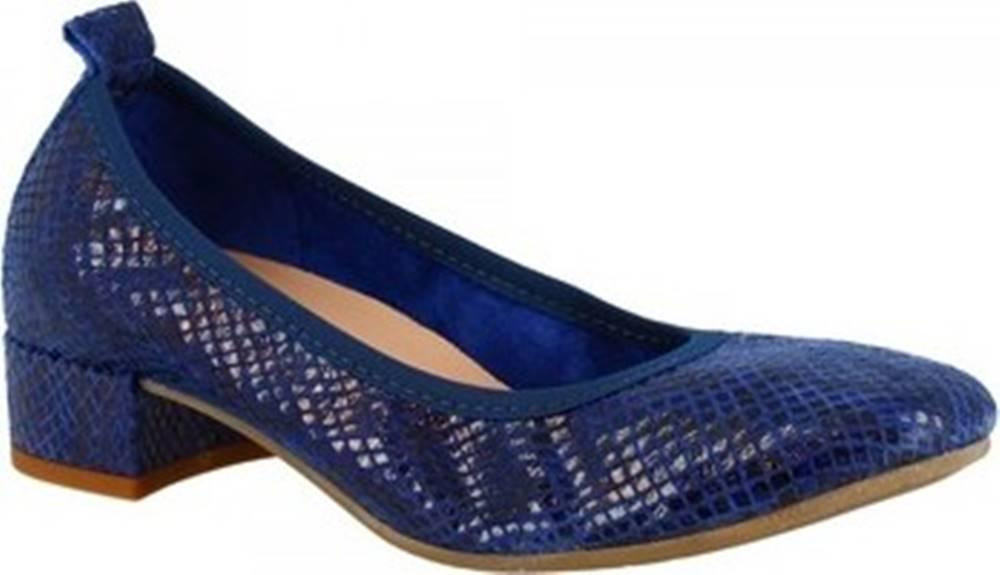 Leonardo Shoes Lodičky 2381/JESSICA PITEN MARINE Modrá