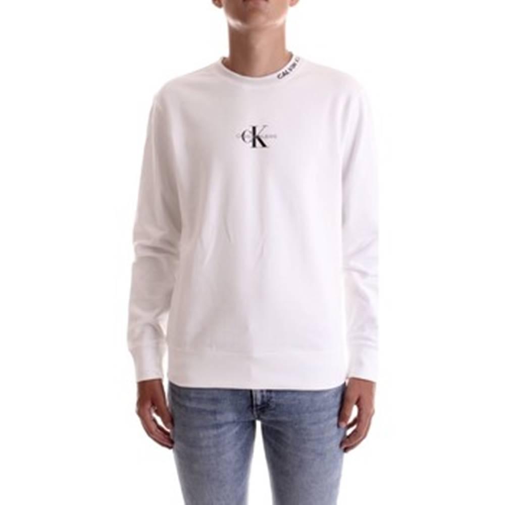 calvin klein jeans Mikiny J30J315879 Bílá