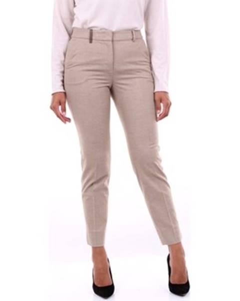 Béžové kalhoty Peserico