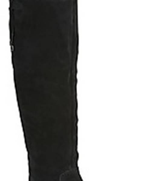 Černé kozačky tamaris