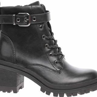 Kotníkové kozačky dámská zimní obuv 1-25208-25 black Černá